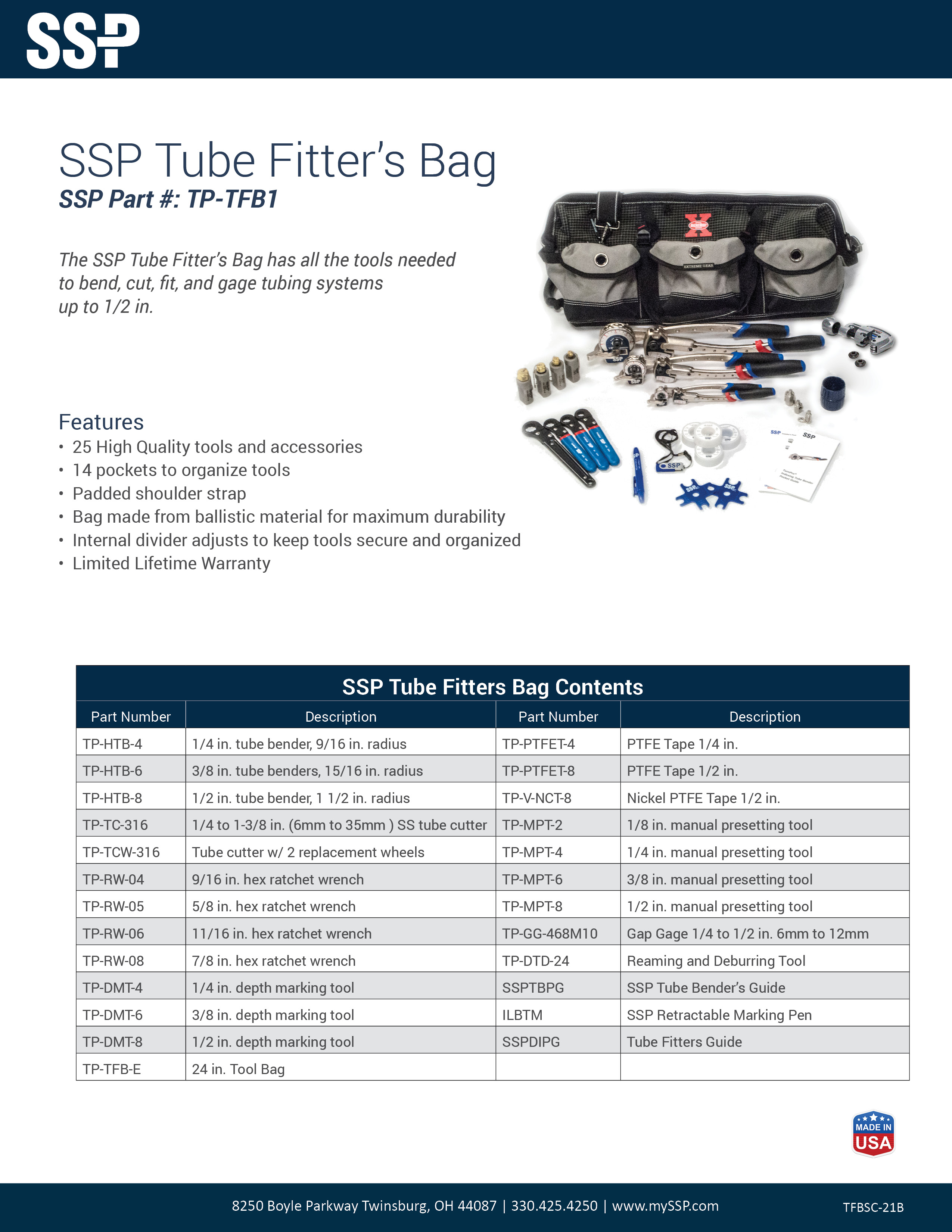 SSP Tube Fitters Bag - Cover Image