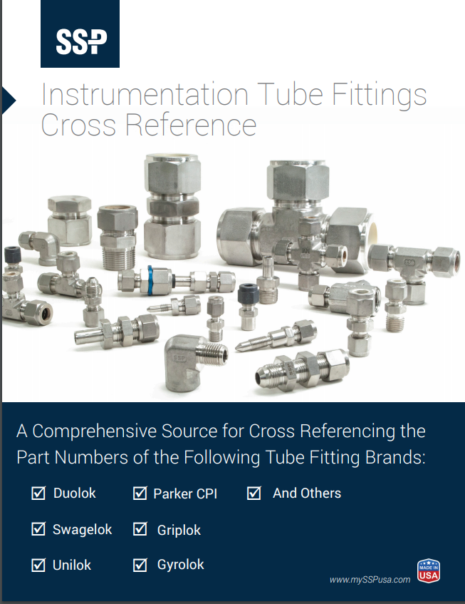 Instrumentation Tube Fittings Cross Reference Guide
