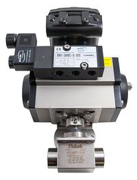 Actuated ball valve solenoidh tilt 1