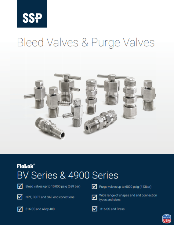 SSP Purge and Bleed Valve Catalog 18A