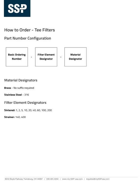Tee-Filters